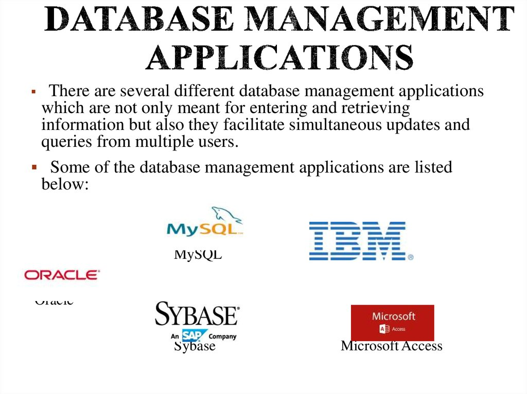 Database Management Applications
