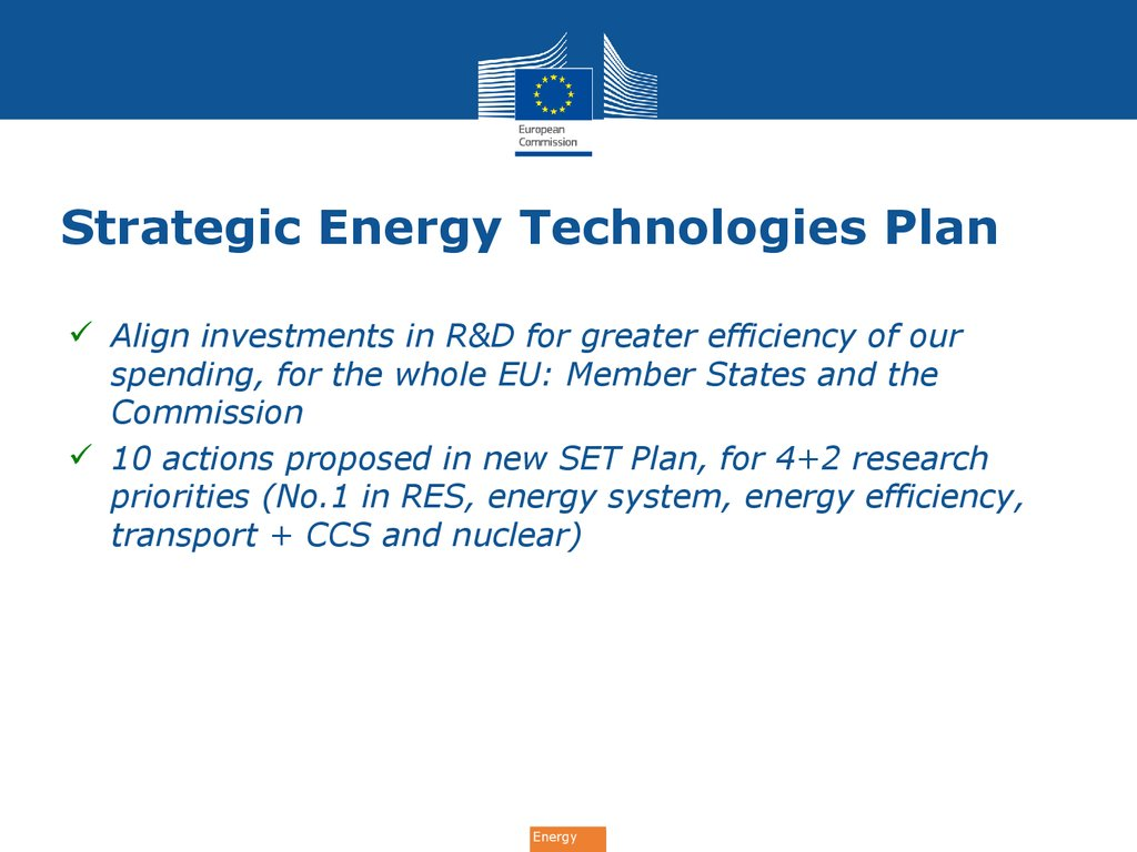 Strategic Energy Technologies Plan