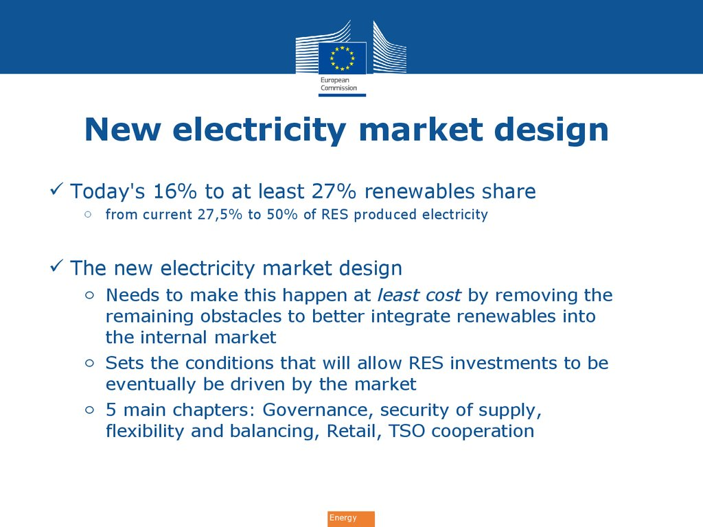 New electricity market design