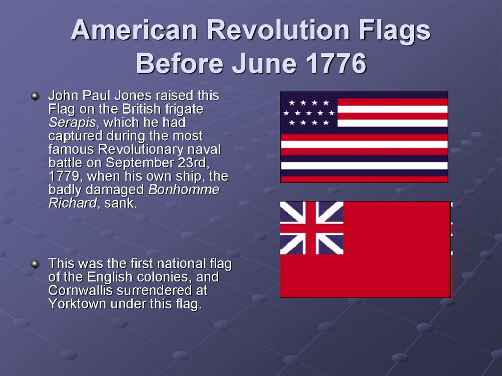 A History Of The United States Through Its Flags Online Presentation