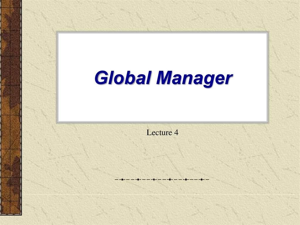 Global Manager