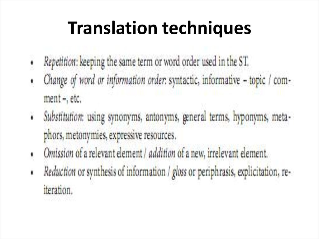 translation techniques How to stop translating in your head and start thinking in english like a native - duration: 14:54 gabby wallace - go natural english 5,411,940 views.