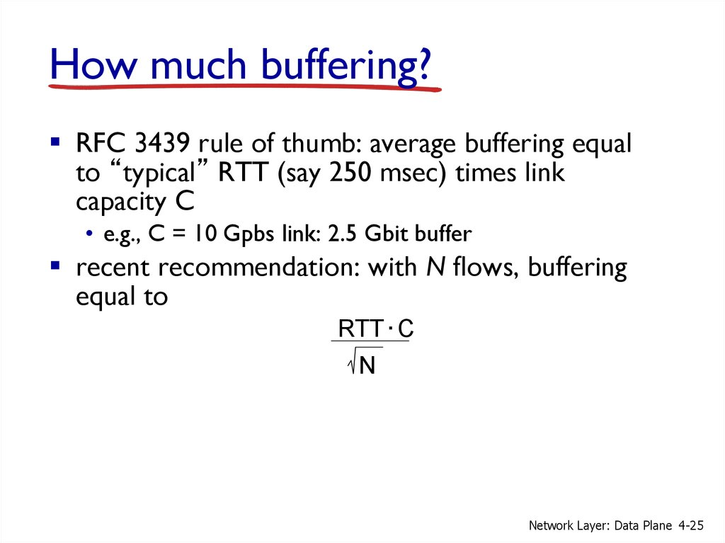 How much buffering?