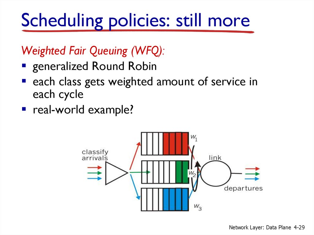 Scheduling policies: still more