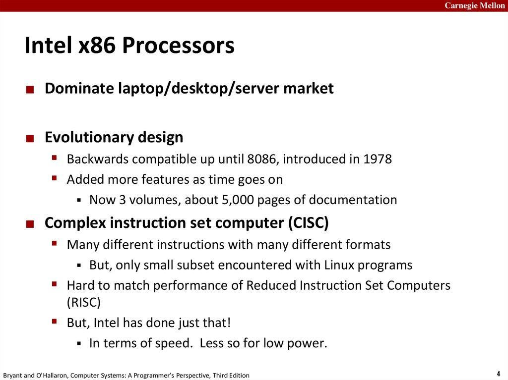 Machine Level Programming I Basics Online Presentation