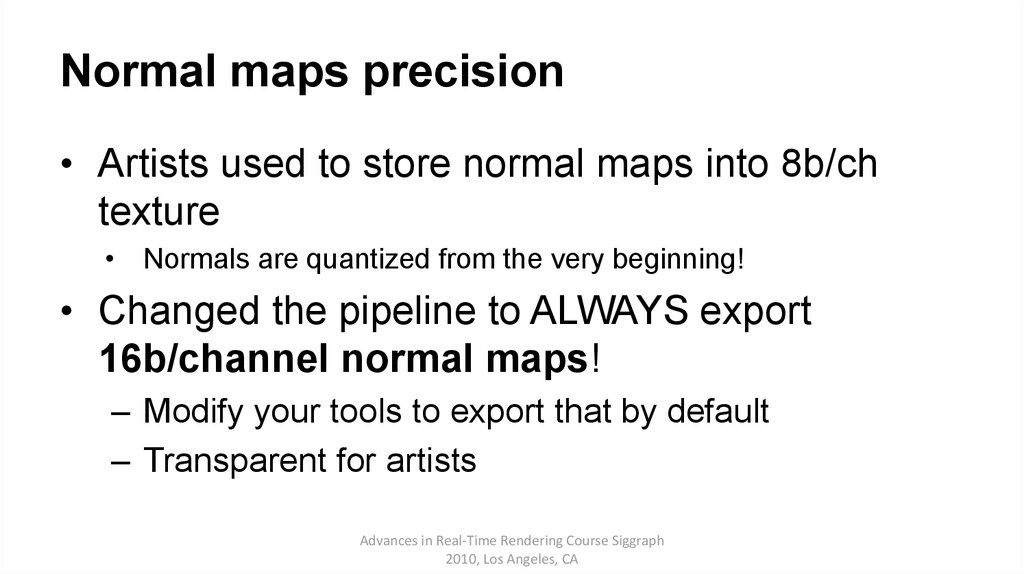 Normal maps precision