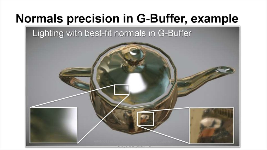 Normals precision in G-Buffer, example