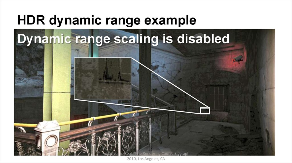 HDR dynamic range example