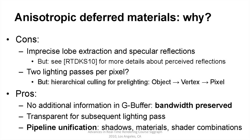 Anisotropic deferred materials: why?