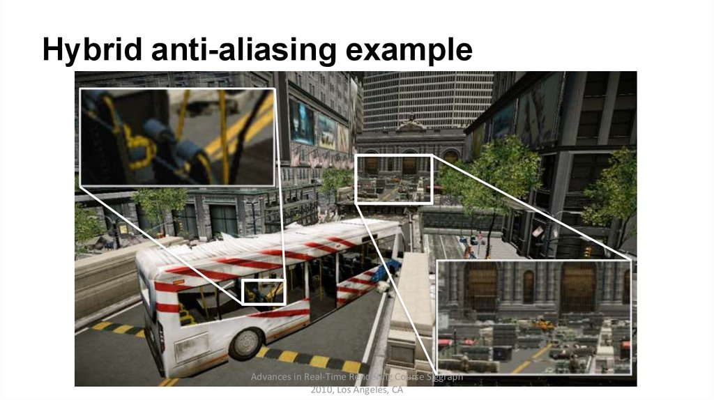 Hybrid anti-aliasing example