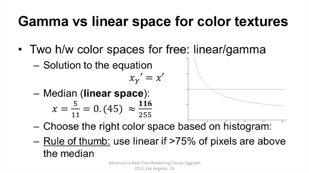 Gamma vs linear space for color textures