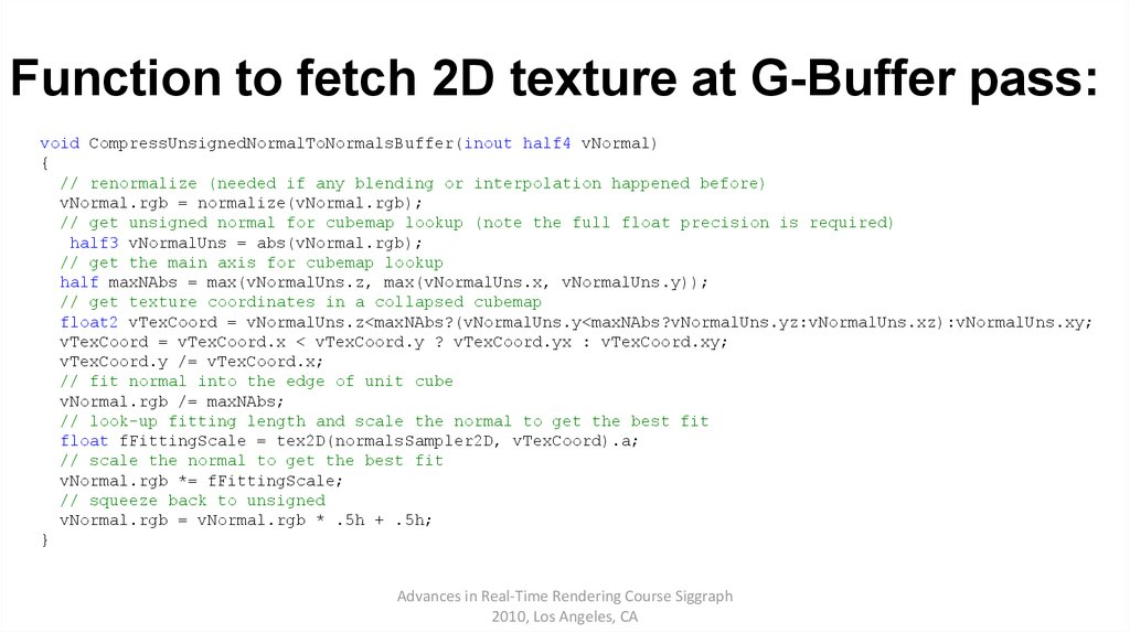 Function to fetch 2D texture at G-Buffer pass:
