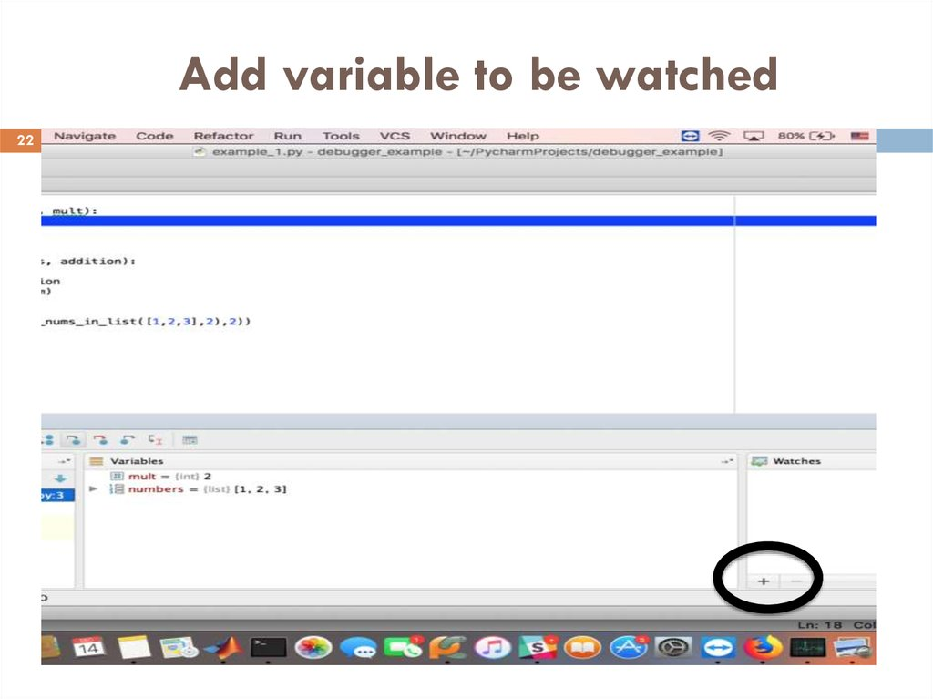 Add variable to be watched
