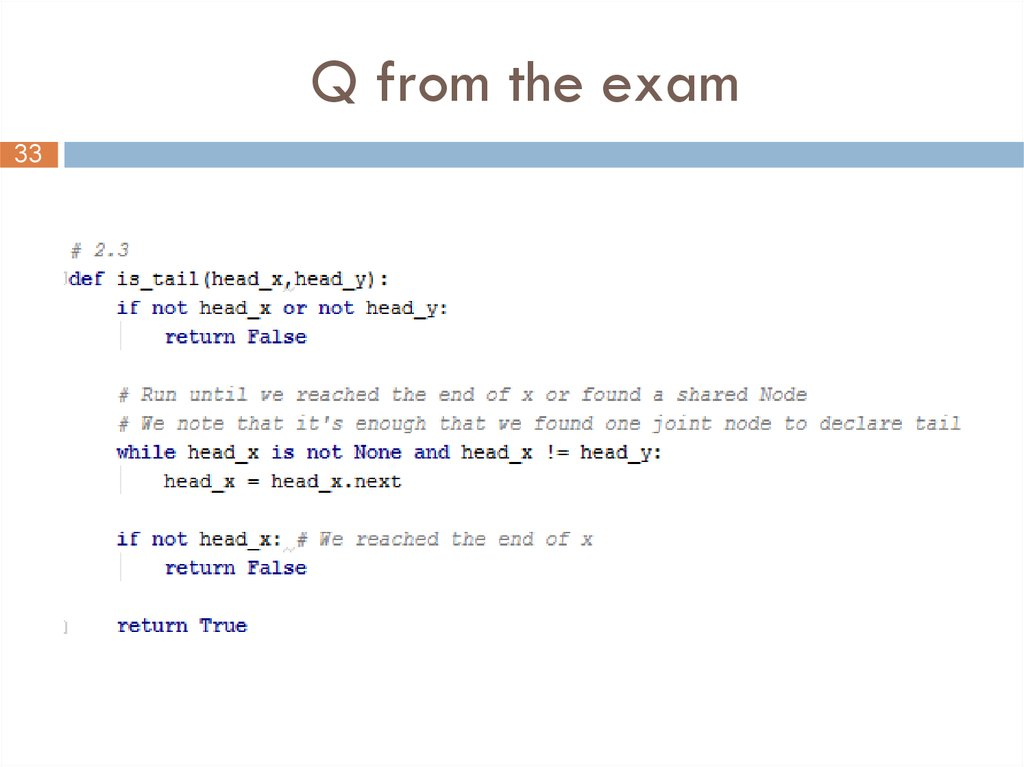 Q from the exam