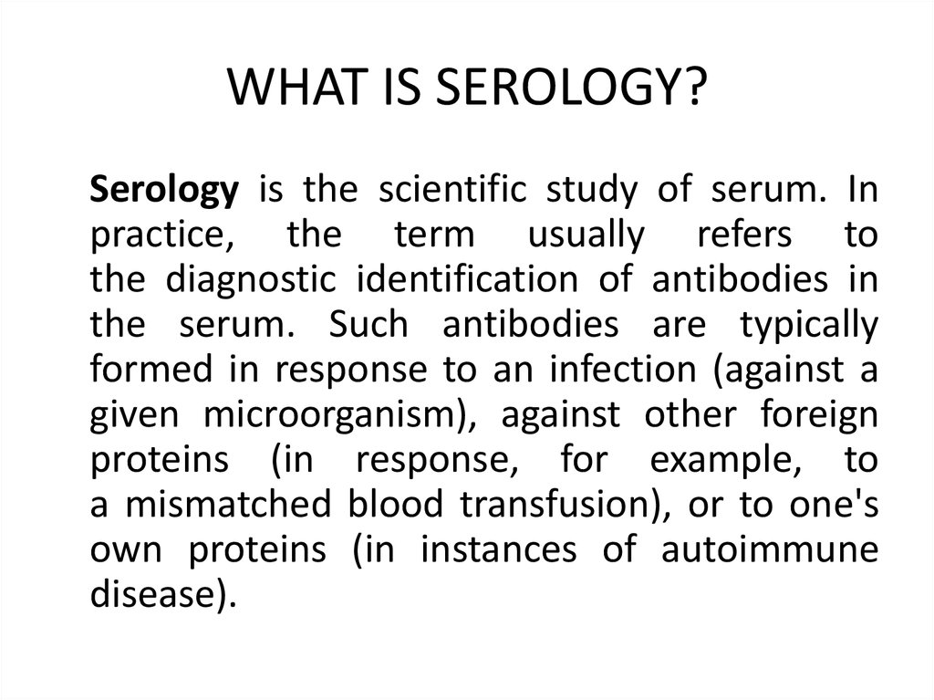 serology  immunity reactions agglutination  precipitation