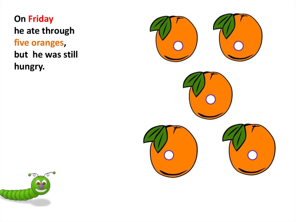 The Very Hungry Caterpillar Online Presentation