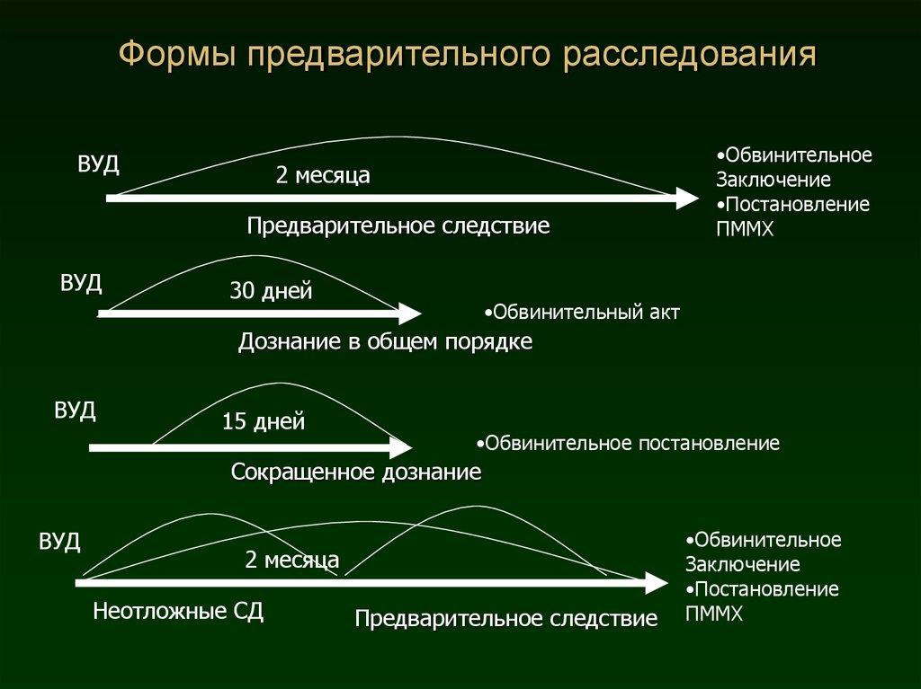 формы предварительного расследования в уголовном процессе