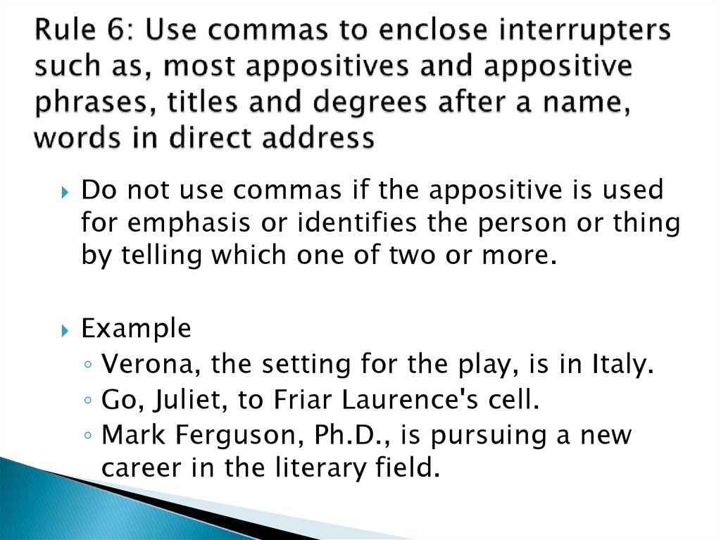 Commas And Conjunctions Online Presentation