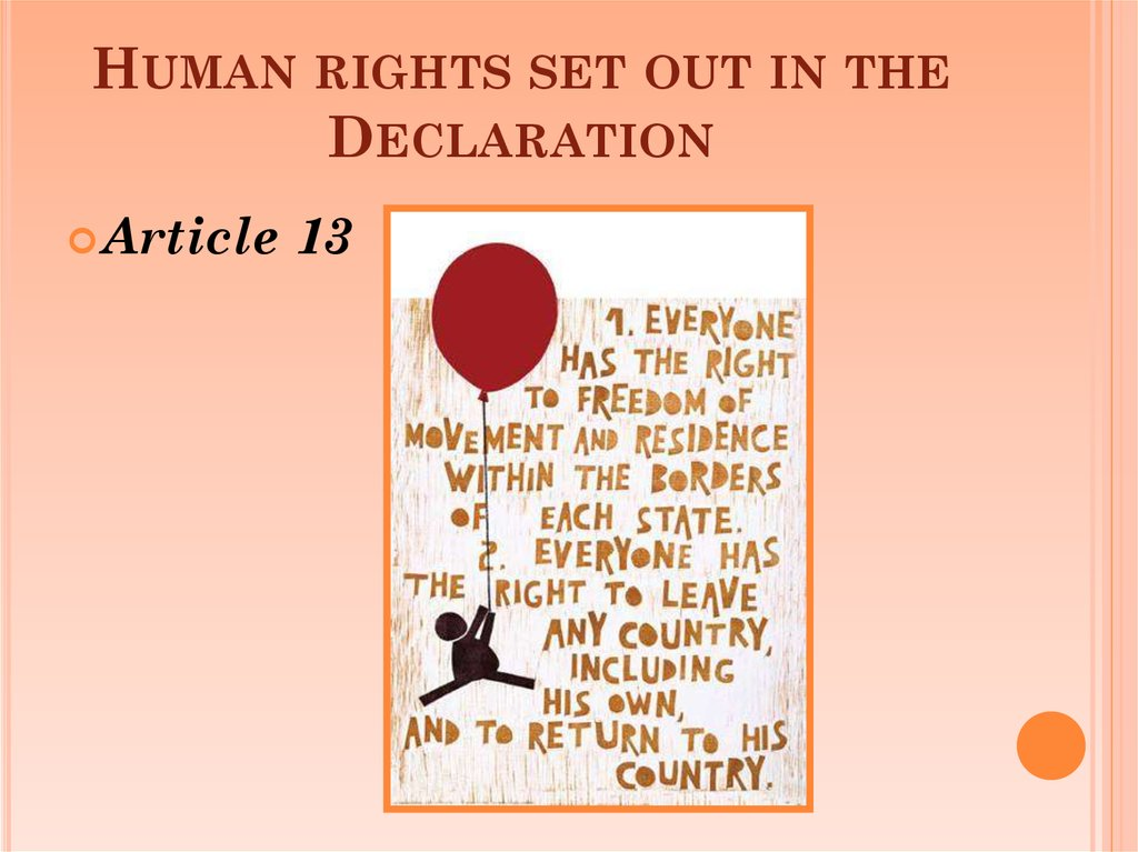 Human rights set out in the Declaration