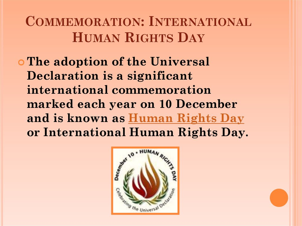 Commemoration: International Human Rights Day