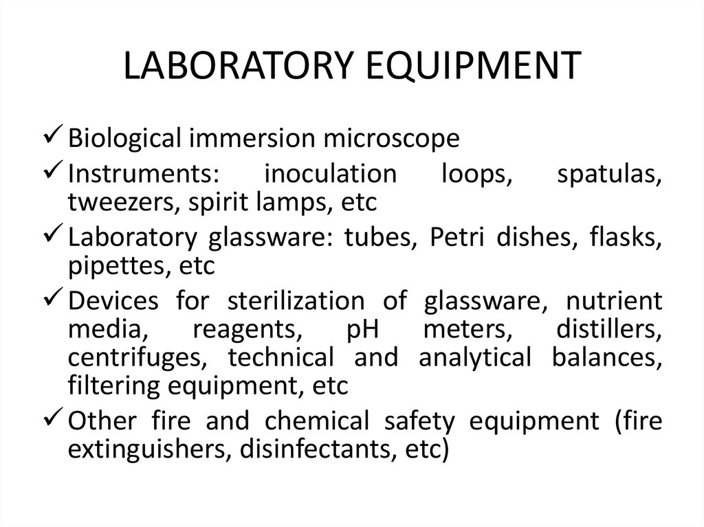 Microbiology  Microbiological laboratory systematics of