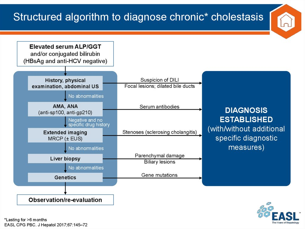 Structured algorithm to diagnose chronic* cholestasis