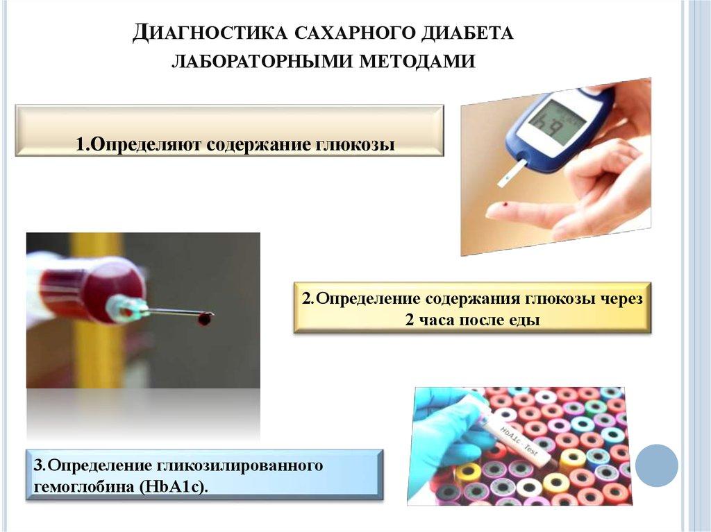 Для диагностики сахарного диабета используют