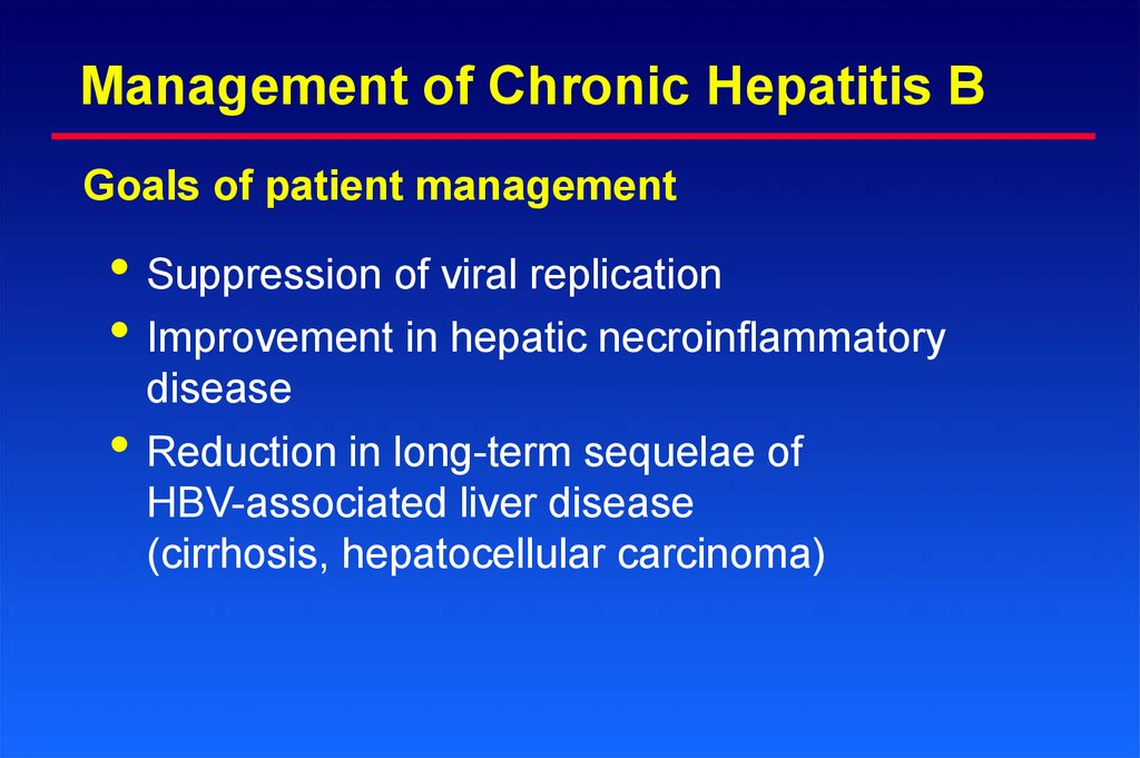 Management of Chronic Hepatitis B