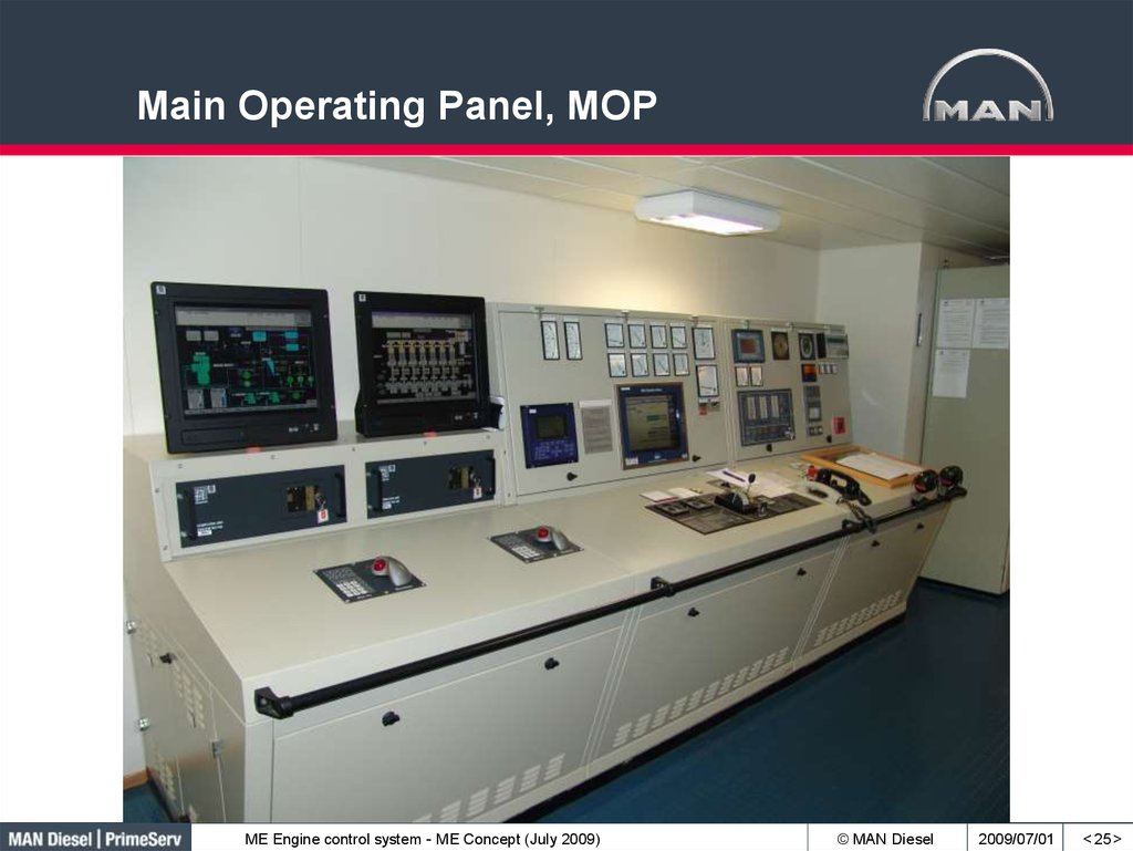 Main Operating Panel, MOP
