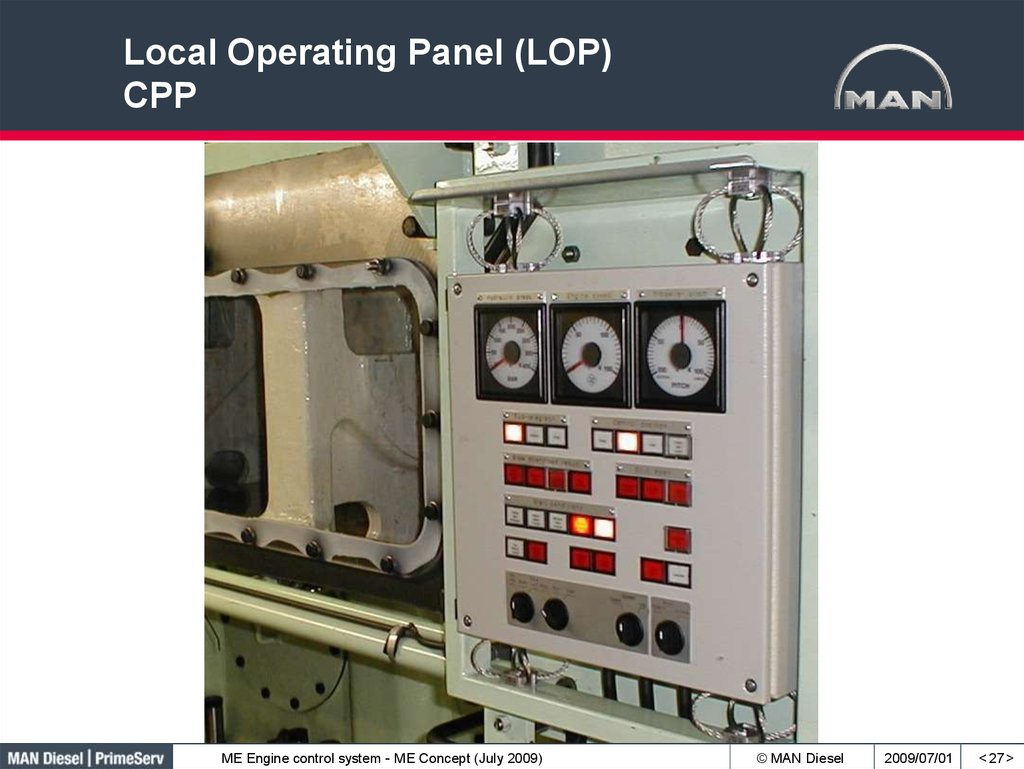 Local Operating Panel (LOP) CPP