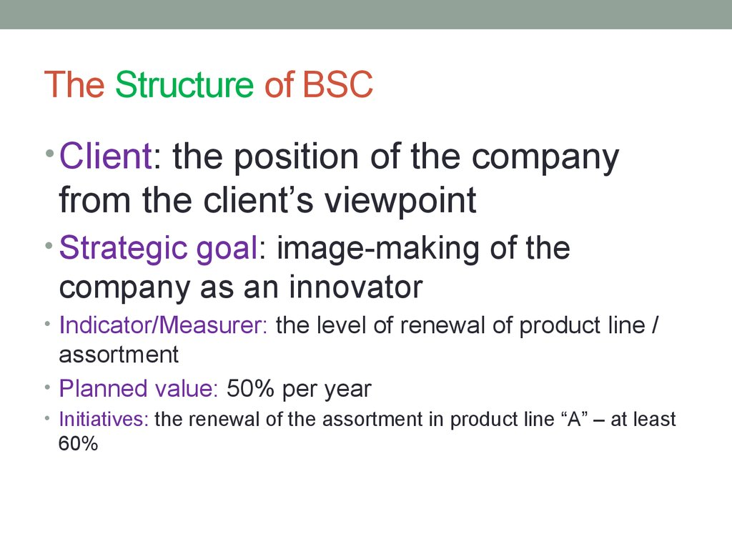 The Structure of BSC