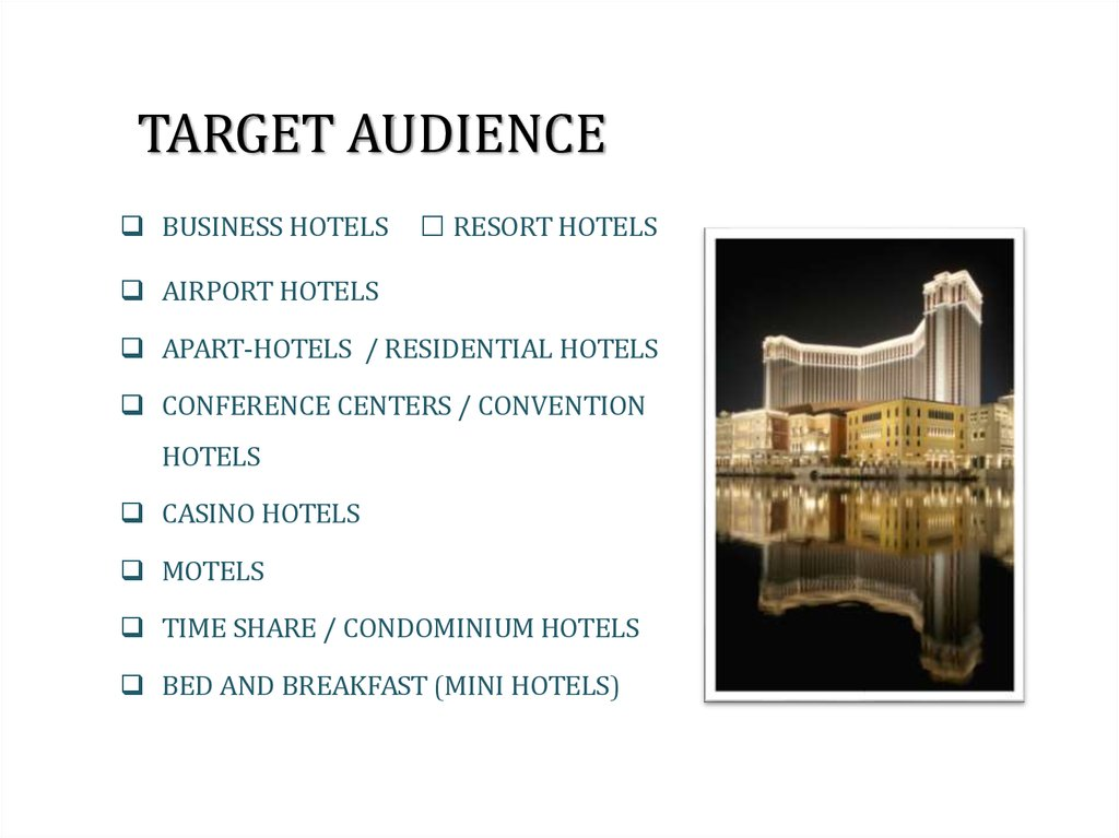 Hotel Management  Marketing