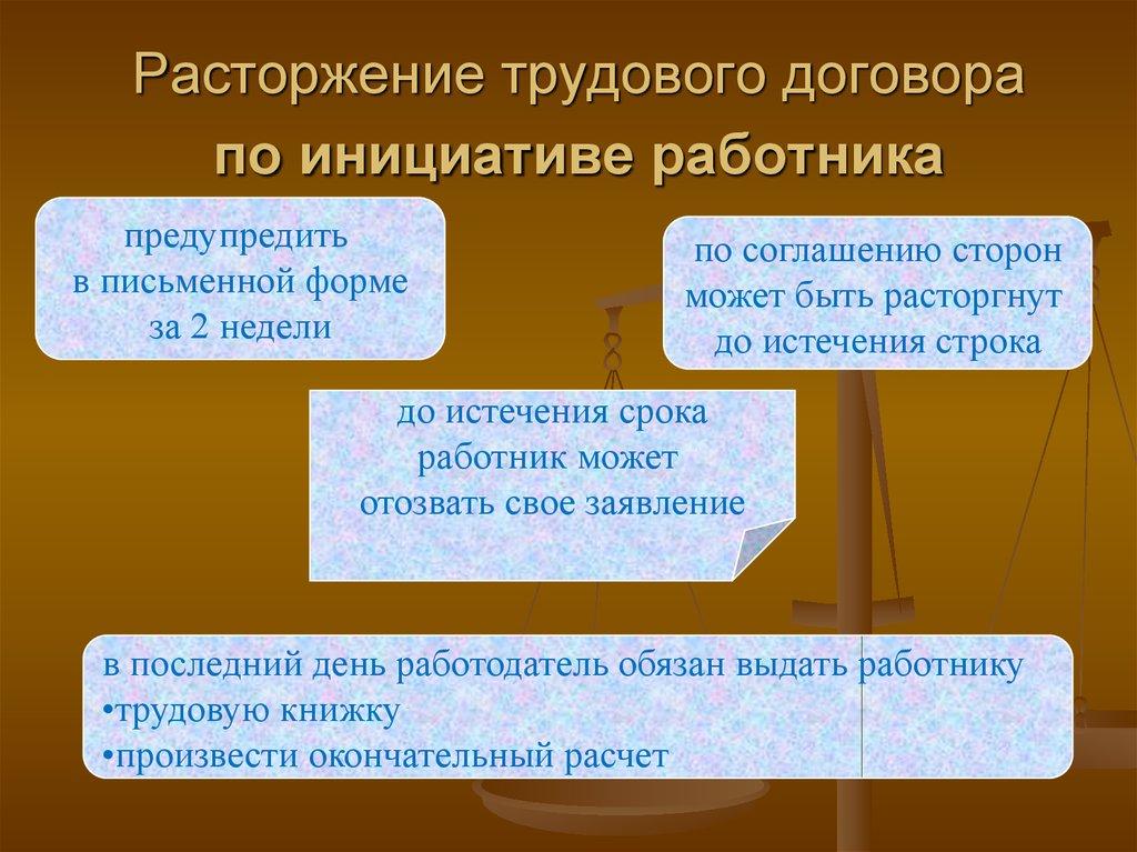 порядок расторжения трудового договора по инициативе работодателя правоведение шпаргалка