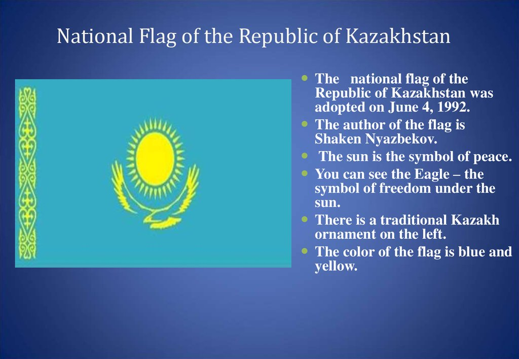 National Flag of the Republic of Kazakhstan