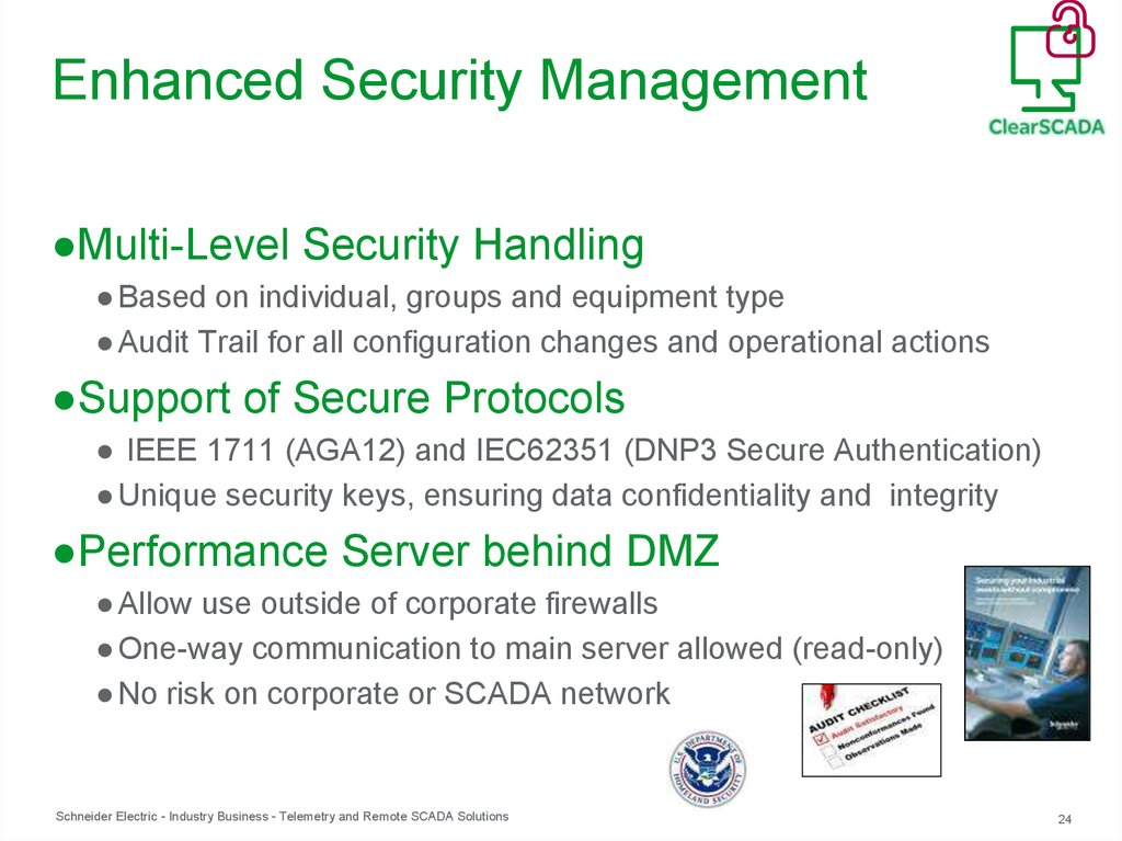 Enhanced Security Management