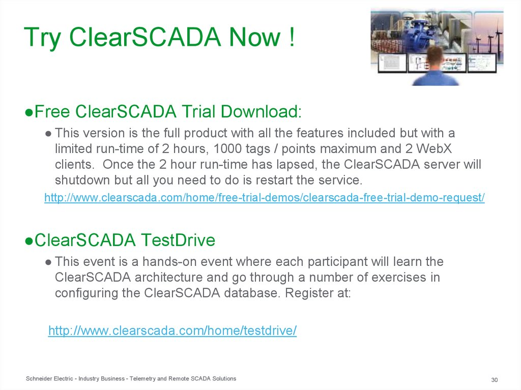 Try ClearSCADA Now !