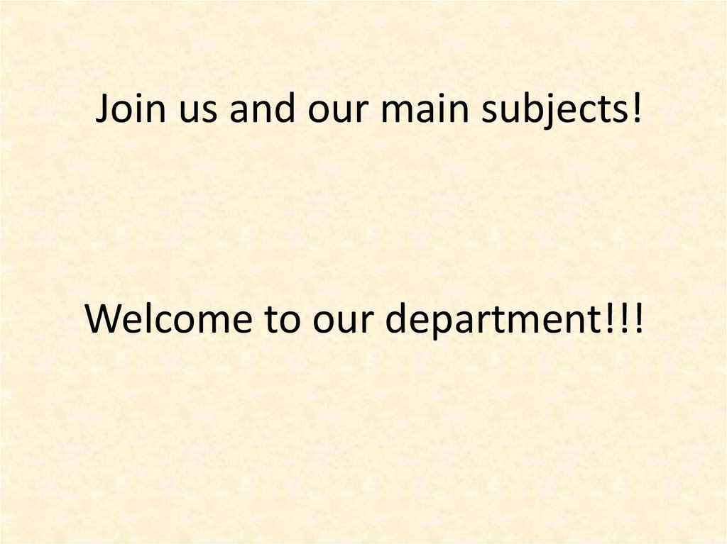 Join us and our main subjects!