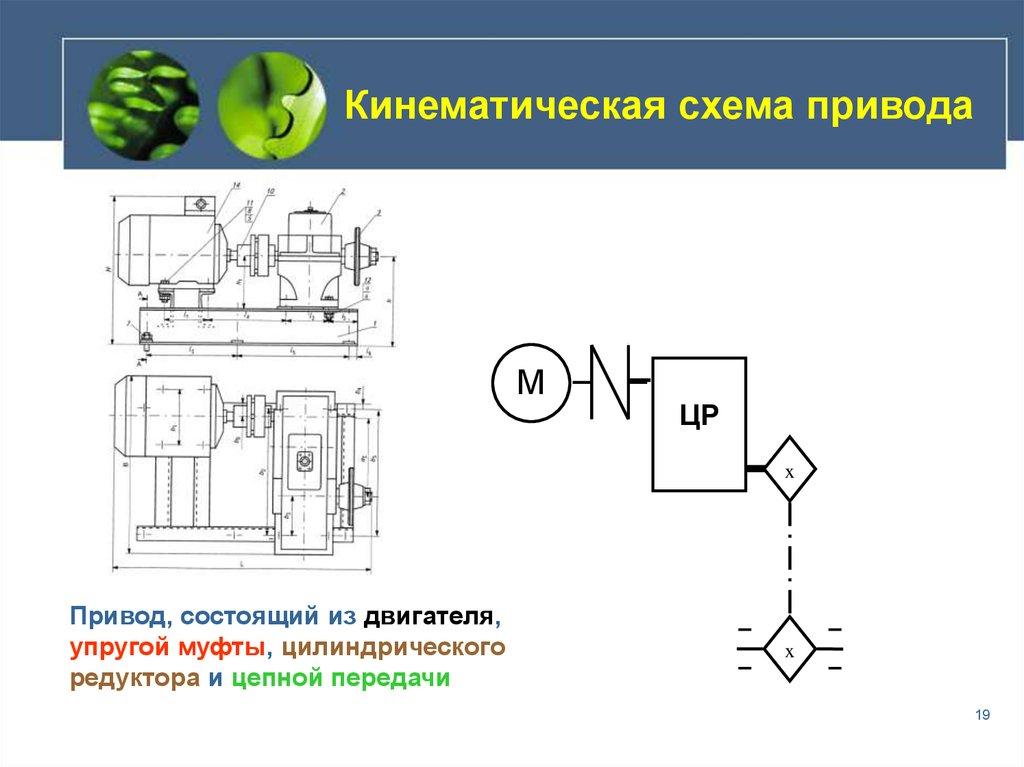 кинематическая схема транспортера на ременной передачи